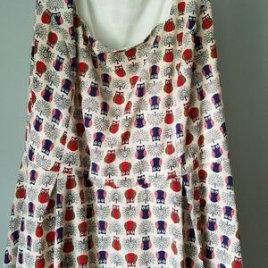 Modcloth dress owl dress yellow star quirky cute